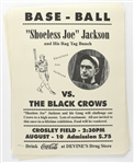 "1920 circa ""Shoeless Joe"" Jackson vs. The Black Crows Limited Edition 18""x 23"" Posters (Lot of 50+)"