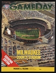 "1994 Green Bay Packers vs Atlanta Falcons Milwaukee County Stadium Game Day Program ""Packers Last Game At County Stadium/Favre Game Winning TD Dash"""