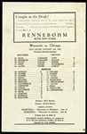1942 Rennebohm Drug Stores Wisconsin vs Chicago Starting Line-Ups Handbill