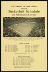 1934-35 University of Wisconsin Basketball Schedule