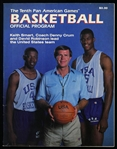 1987 Tenth Pan American Games Basketball Official Program