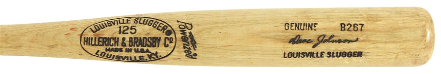 1977-78 Davey Johnson Philadelphia Phillies H&B Louisville Slugger Professional Model Game Used Bat (MEARS LOA)