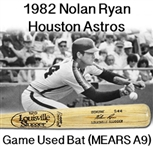 "1982 Nolan Ryan Houston Astro Louisville Slugger S44 Professional Model Game Used Bat (MEARS A9) ""RARE, High Grade Example"""