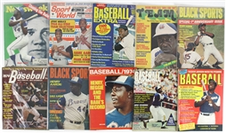 1950s-1980s Hank Aaron Milwaukee Braves Magazines, Photos, Postcards (Lot of 45+)