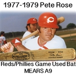 1977-1979 Pete Rose H&B Louisville Slugger Game Used Bat (MEARS A9/PSA10, JSA)