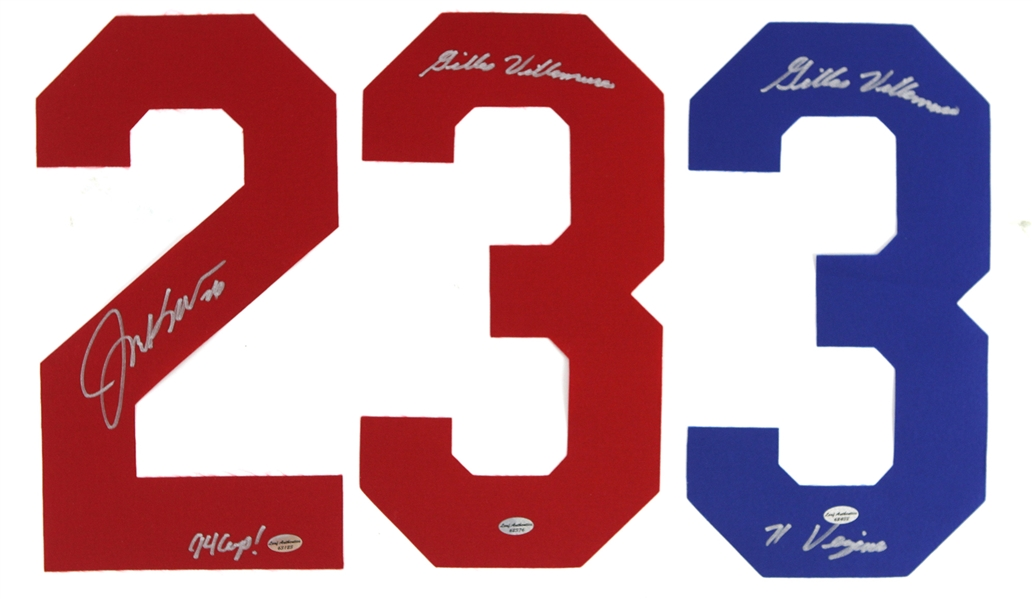 New York Rangers Stanley Cup Fan Favorite Signed Replica Jersey Numbers (Lot of 3)