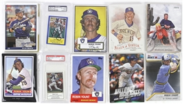 1980s-2000s Robin Yount Milwaukee Brewers Over-Sized Trading Cards w/ PSA/DNA Slabbed Cards (Lot of 10)