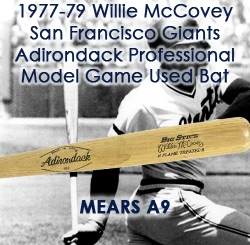 1977-79 Willie McCovey San Francisco Giants Adirondack Professional Model Game Used Bat (MEARS A9)