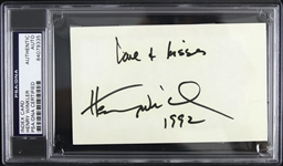 "1992 Henry Winkler Happy Days Signed 3""x 5"" Index Card (PSA/DNA Slabbed)"