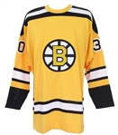 1966-67 Gary Cheevers Boston Bruins Signed & Multi Inscribed Mitchell & Ness Throwback Jersey (JSA)