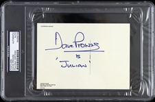 1971 David Prowse Autographed Clockwork Orange Postcard (PSA/DNA Slabbed)