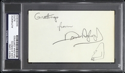 "1970s-2000s Dan Aykroyd Autographed 3""x 5"" Index Card (PSA/DNA Slabbed)"