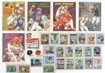 1970-73 Topps Football Trading Card Collection - Lot of 700+ w/ Bart Starr, Joe Namath, OJ Simpson, Terry Bradshaw, Roger Staubach, Gale Sayers, Dick Butkus, Ray Nitschke & More