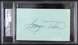 "1960s George Takei Star Trek Signed 3""x 5"" Index Card (PSA/DNA Slabbed)"