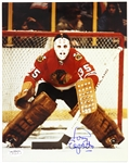 "1969-1984 Tony Esposito Chicago Black Hawks Signed 8""x 10"" Photo *JSA*"