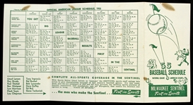 1955 Milwaukee Sentinel First in Sports National and American League Schedule