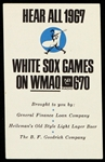 1967 Chicago White Sox WMAQ Radio Game Schedule