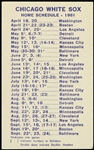 1961 Chicago White Sox Home Schedule