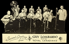 "1924-1977 Guy Lombardo and His Royal Canadians 5""x 7 1/2"" Holiday Card"