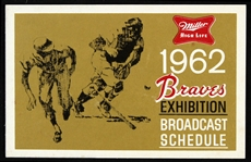 1962 Milwaukee Braves Spring Training Broadcast Schedule