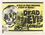"1965 Dead Eyes of London 22""x 28"" Movie Poster"
