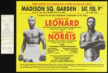 1980s-1990s Hagler vs Durand Ticket and Sugar Ray Leonard vs Terry Norris Madison Square Garden Flyer