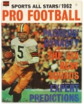 "1962 Pro Football Sports All Stars Magazine Featuring ""Packers Dynasty"""