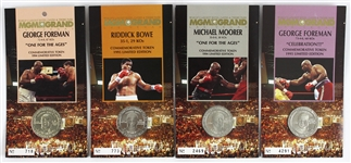 1994-1995 MGM Grand Commemorative Tokens Including Riddick Bowe, George Foreman, and Michael Moorer