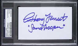 "1977 Anthony Forrest Star Wars ""Sandtrooper"" Signed 3""x 5"" Index Card (PSA/DNA Slabbed)"