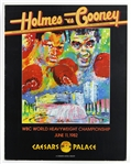 "1982 Larry Holmes vs Gerry Cooney 22""x 28"" Fight Poster"