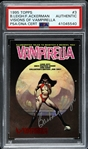 1995 Barbara Leigh & Forrest Ackerman Vampirella Signed Topps Card (PSA/DNA Slabbed)