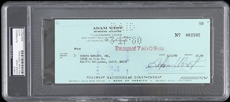 1980 Adam West Batman Signed Check (PSA/DNA Slabbed)