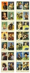 "1940s Hollywood Strips 3.5""x 19"" Uncut Sheets of Dutch Photo-Booklets Including Roy Rogers, Doris Day, Gene Autry, and more"