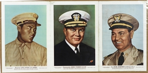 "1942 Joe Louis / Gene Tunney / Jack Dempsey Boxers in Military 15""x 30"" Chicago Sun Supplement"