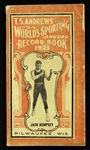1921 Jack Dempsey T.S. Andrews Worlds Sporting Annual Record Book Milwaukee, Wis.