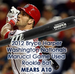 2012 Bryce Harper Washington Nationals Marucci Professional Model Game Used Bat (MEARS A10) Rookie Season