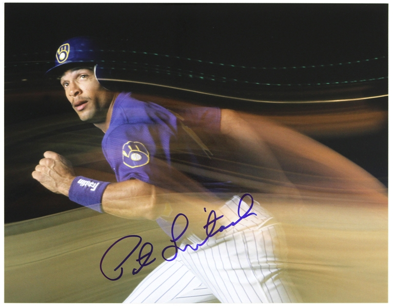 "1992-1996 Pat Listach Milwaukee Brewers Signed 11""x 14"" Photo (JSA)"