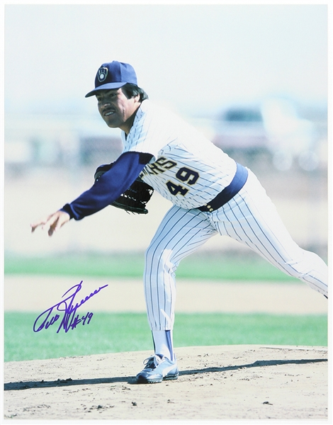 "1985-1994 Teddy Higuera Milwaukee Brewers Signed 11""x 14"" Photo (JSA)"