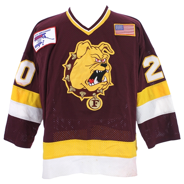 1990-91 Mike May Ferris State Bulldogs Game Worn Jersey (MEARS LOA)