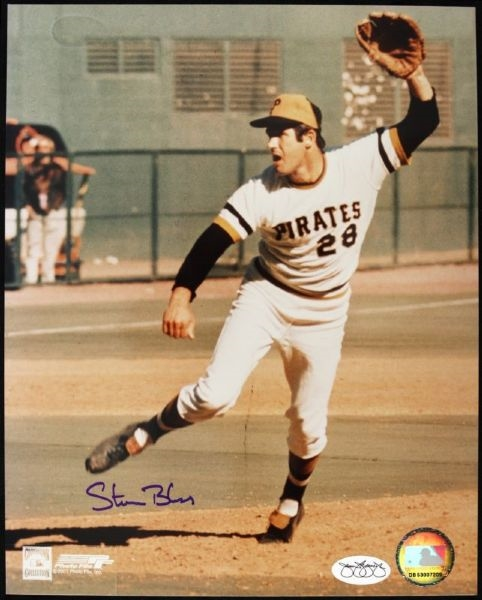 "1970-74 Steve Blass Pittsburgh Pirates Signed 8"" x 10"" Color Photo *JSA*"