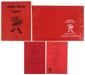 1973 Wisconsin Badger Boxing Legend & Badger Boxing Day Case