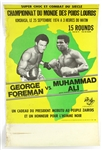 "1974 Muhammad Ali vs. George Foreman ""Rumble in the Jungle"" 14""x 22"" On-Site French Poster"