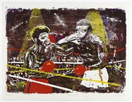 "1978 Muhammad Ali vs Leon Spinks ""The Fight"" 20""x 26"" Limited Edition Lithograph"