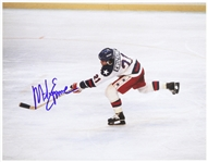 "1980 Mike Eruzione Winter Olympics Signed 11""x 14"" Photo (JSA)"