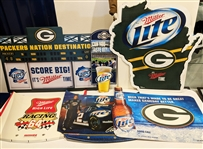 1990s-2000s Green Bay Packers & NASCAR Miller Beer Advertisements (Lot of 15)