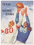 1954 Texas Notre Dame Official Program Featuring Paul Hornung of the Green Bay Packers