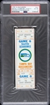 1976 Seattle Seahawks vs. Tampa Bay Buccaneers Game 6 Full Ticket (PSA/DNA Slabbed)