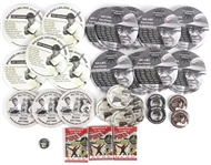 "2010-2011 MEARS Online Auctions 1"" to 4"" Pinback Buttons (Lot of 32) $350+ Retail Value!"