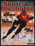 2002 Chris Witty Olympic Gold Medalist Signed Sports Illustrated (JSA)