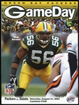 2004 Green Bay Packers vs New Orleans Saints Game Day Program
